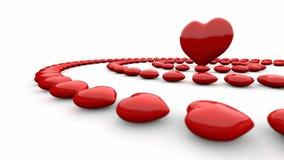 Cuori rossi astratti di amore Immagini Stock