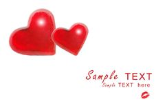 Cuori rossi del biglietto di S. Valentino illustrazione vettoriale