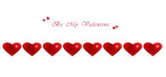 Cuori rossi del biglietto di S. Valentino royalty illustrazione gratis