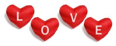 Cuori rossi di amore fotografie stock