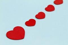 Cuori rossi di amore Fotografia Stock