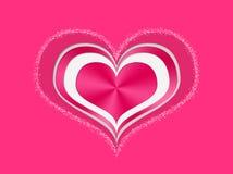 Cuori rossi e bianchi multipli del biglietto di S. Valentino Immagine Stock Libera da Diritti