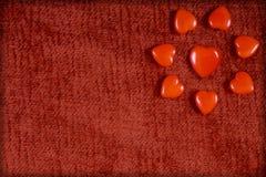 Cuori rossi per il San Valentino Immagini Stock Libere da Diritti