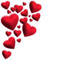 Cuori rossi per una lettera di amore Immagine Stock Libera da Diritti