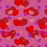 Cuori senza giunte per il reticolo di giorno del biglietto di S. Valentino Fotografia Stock Libera da Diritti