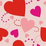 Cuori sul rosa-chiaro Fotografie Stock Libere da Diritti