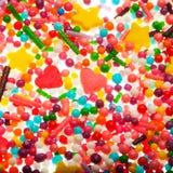 Cuori variopinti dolci della caramella Fotografia Stock