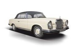Cupé clásico de Mercedes-Benz 280SE aislado en blanco Imágenes de archivo libres de regalías