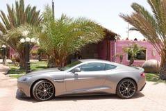 Cupé de Aston Martin Vanquish en al sur de Lima Foto de archivo libre de regalías