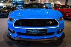 Cupé del Fastback de Ford Mustang GT AM2 del coche de potro, 2016 Imágenes de archivo libres de regalías