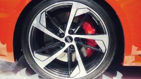 Cupé del rojo de Audi RS5 imagenes de archivo