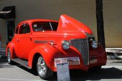 Cupé viejo de Chevrolet en la demostración de coche Foto de archivo