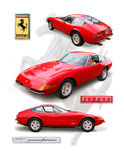 Cupê clássico do ` de Daytona do ` de Ferrari 356 ilustração do vetor