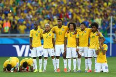 Cupê du monde 2014 de Equipe Bresil Foto de Stock Royalty Free