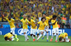 Cupê du monde 2014 de Equipe Bresil Fotografia de Stock