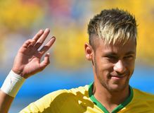 Cupê du monde 2014 do júnior de Neymar Imagem de Stock Royalty Free