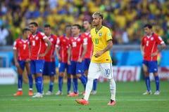 Cupê du monde 2014 do júnior de Neymar Foto de Stock Royalty Free