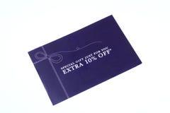 Cupón del 10% Imagen de archivo libre de regalías