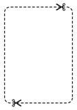 Cupón en blanco   Fotografía de archivo libre de regalías