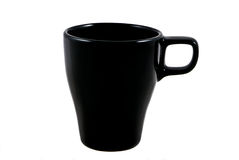 Cup. Black cup on white background Stock Photo