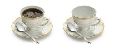 Cup. With tea, coffee and empty Royalty Free Stock Photography