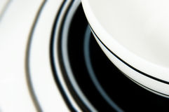 Cup. Close up of empty black and white cup Stock Photos