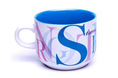 Cup. On the white background Royalty Free Stock Photography