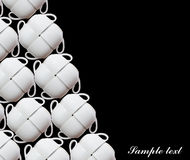 Cup. S on a black background Royalty Free Stock Images