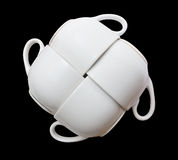 Cup. White isolated on black background Stock Image