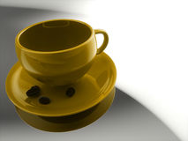 Cup of 3D render Royalty Free Stock Photography