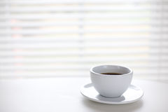 Cup. White cup on table/ time for a break/ copyspace Royalty Free Stock Image
