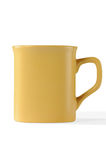 Cup. Isolated yellow cup with clipping paths Stock Image