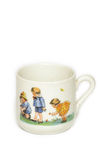 Cup. A painted porcellainic cup on a children, antique, home decoration Stock Photography