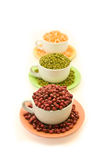 Cup of Adzuki Beans royalty free stock photos