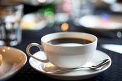 Cup of americano, shallow focus Stock Photography