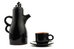 Cup_&_teapot imagen de archivo libre de regalías