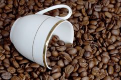 Cup And Grain Coffee Royalty Free Stock Image