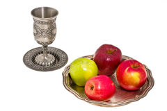 Cup and apple Royalty Free Stock Photos