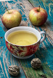 Cup of apple tea Stock Image