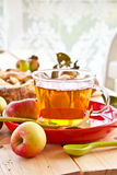 Cup of apple tea Stock Photography