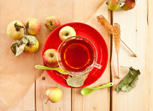 Cup of apple tea Royalty Free Stock Image
