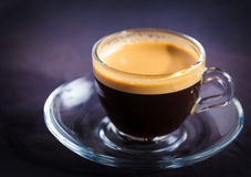 Cup of aromatic coffee crema Royalty Free Stock Image