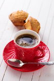 Cup of aromatic coffee and homemade cakes Royalty Free Stock Images