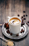 A cup of aromatic espresso coffee Stock Images