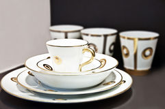 Cup arrangement. Close-up to an cup arrangement stock images