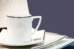 Cup arrangement. Close-up to an cup arrangement Royalty Free Stock Images