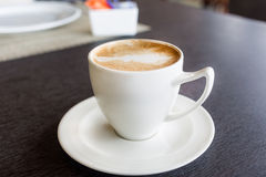 Cup of art latte or cappuccino coffee Royalty Free Stock Photos