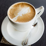 Cup of art latte Royalty Free Stock Image