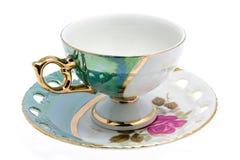 Cup auf Saucer stockbild
