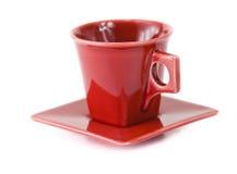 Cup auf Teller Stockbilder